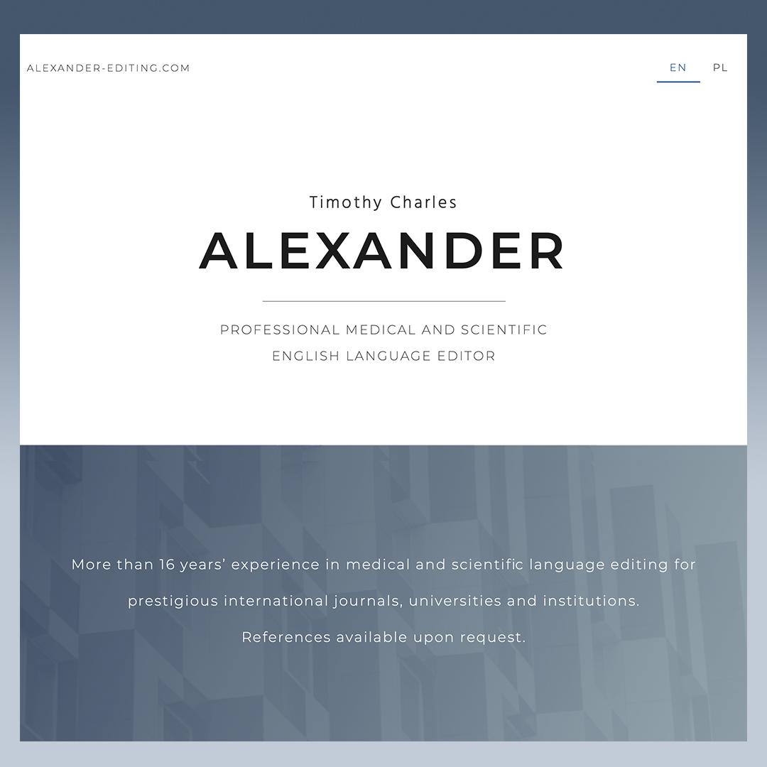 alexander-editing